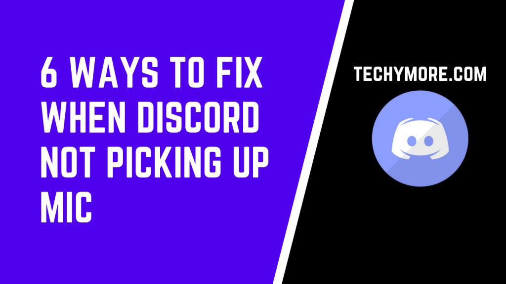 Discord Not Picking Up Mic