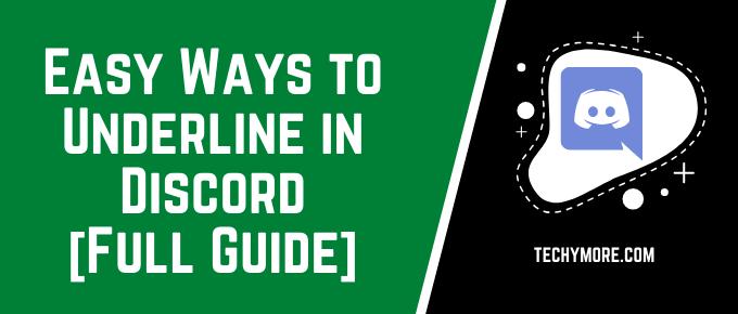 How to Underline in Discord